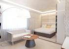 Дизайн совмещенной со спальней гостиной