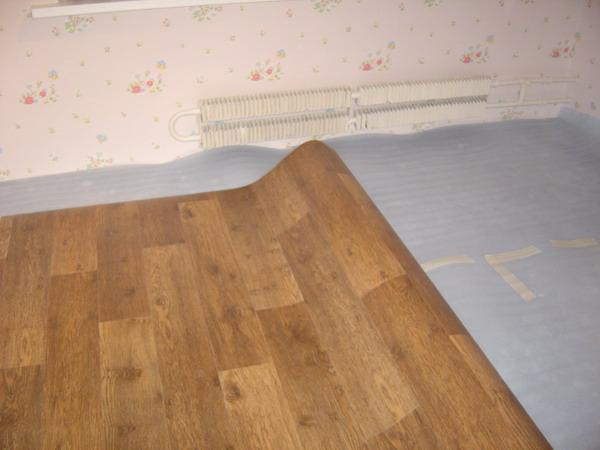Напольное покрытие из линолеума в детской комнате