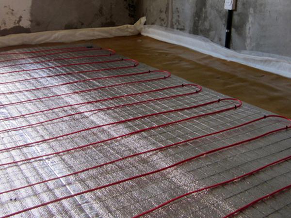 Пример электро утепления пола перед установкой напольного покрытия