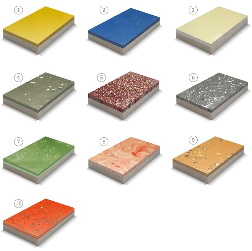 Образцы 3-D наливных полов
