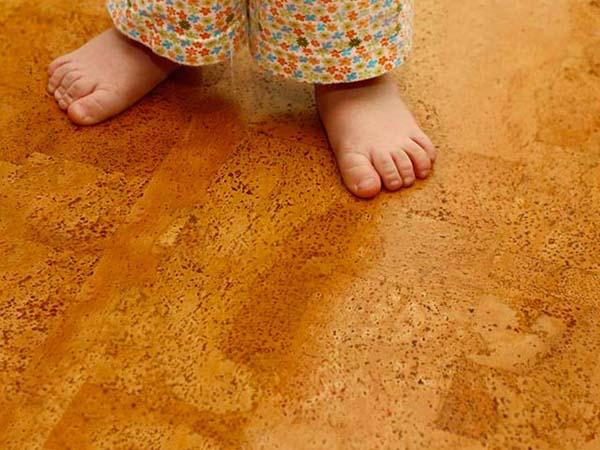 Пробковое покрытие для детской комнаты
