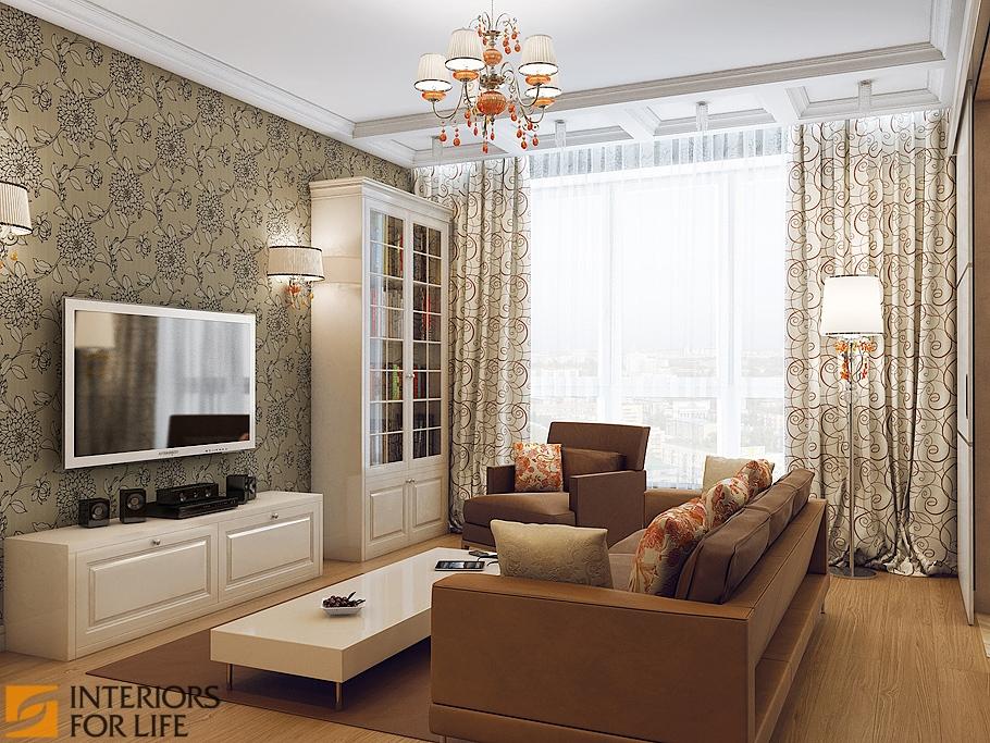 Интерьер комнаты гостиная