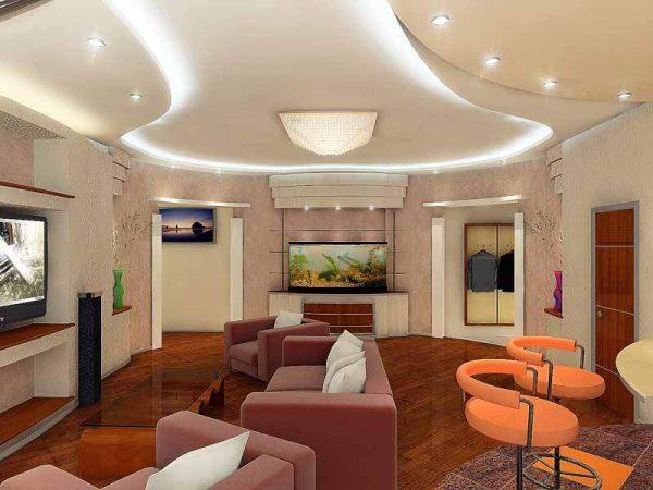 Дизайн гостиной в квартире площадью 20 кв м