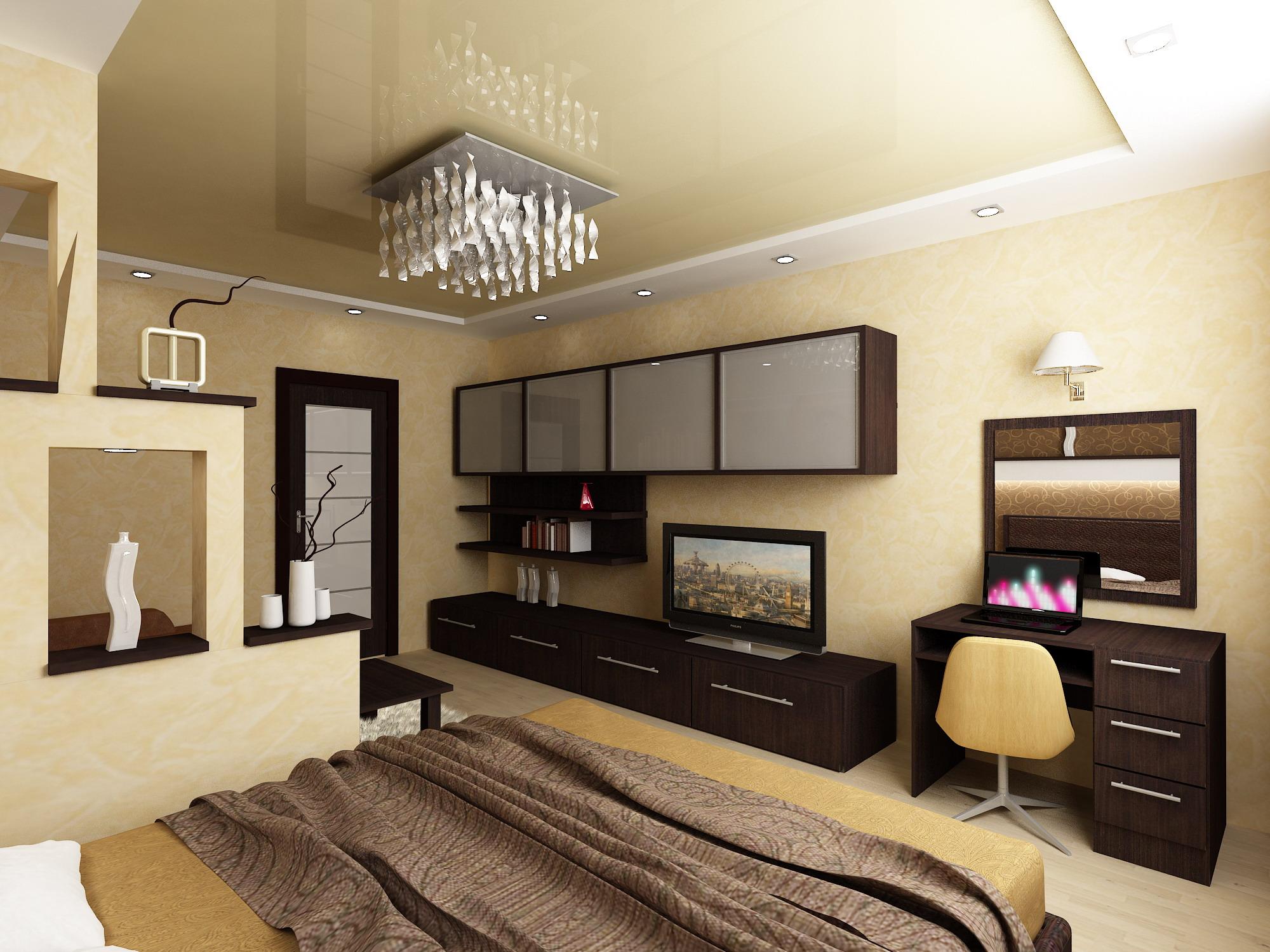 Дизайн комнаты 18 кв.м спальни-гостиной фото в зеленых тонах фото